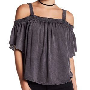 NWT Free People Darling Off-the-Shoulder Shirt M